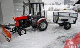 prikolica vrtlar za kompaktni traktor