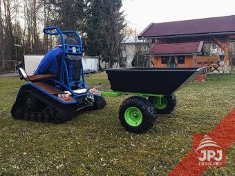 Prikolica mali radnik iza quad i vrtne traktore