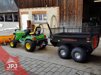 atv prikolica profi vrtlar za mali traktor